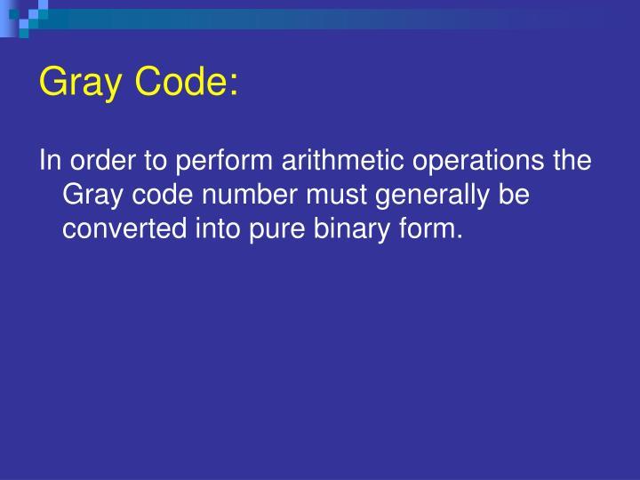 Gray Code: