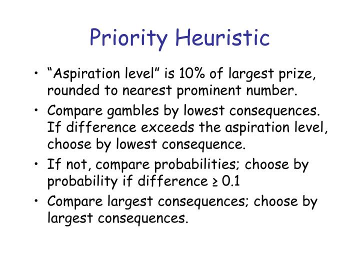 Priority Heuristic
