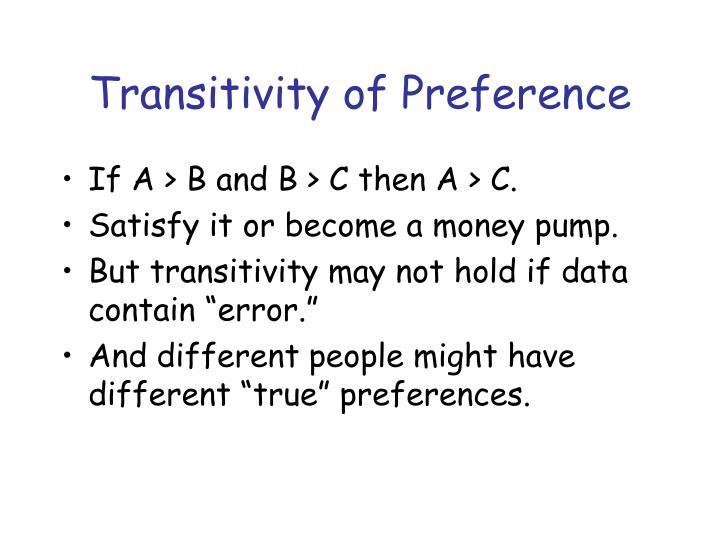 Transitivity of Preference