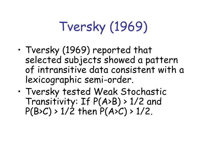 Tversky (1969)