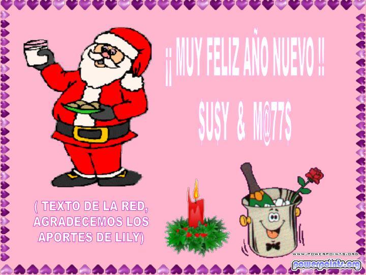 ¡¡ MUY FELIZ AÑO NUEVO !!
