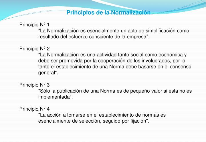 Principios de la Normalización