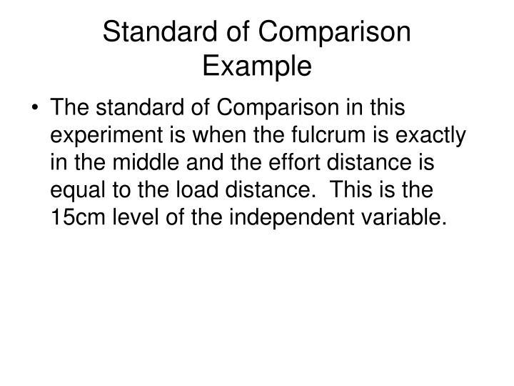 Standard of Comparison