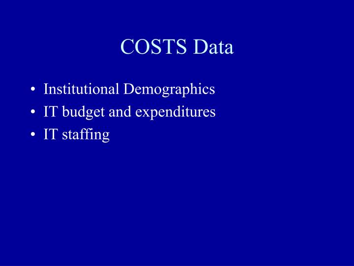 COSTS Data