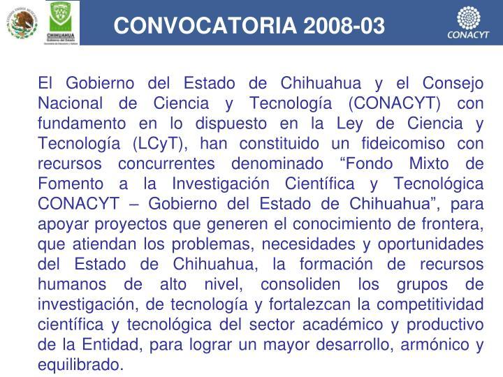 CONVOCATORIA 2008-03