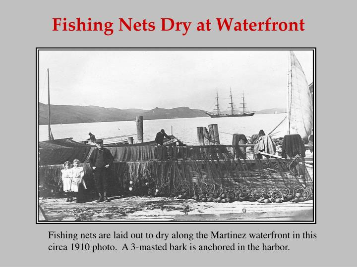 Fishing Nets Dry at Waterfront