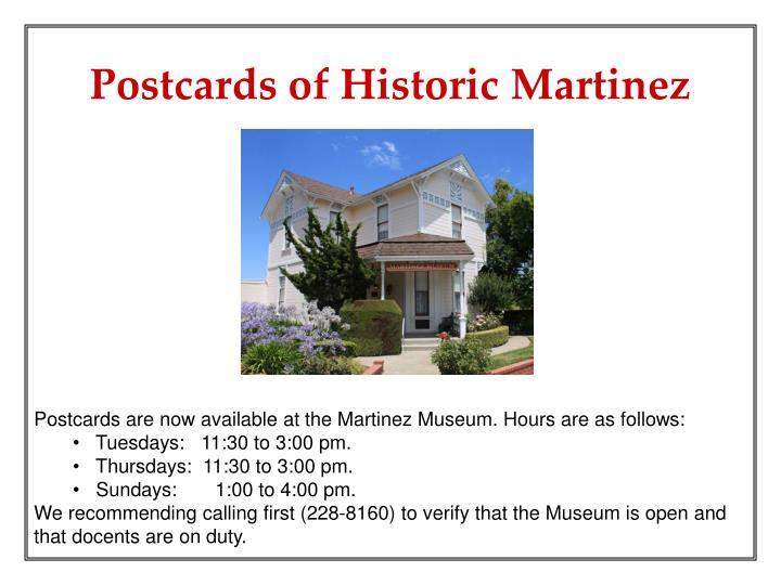 Postcards of Historic Martinez