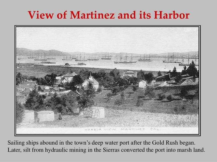 View of Martinez and its Harbor