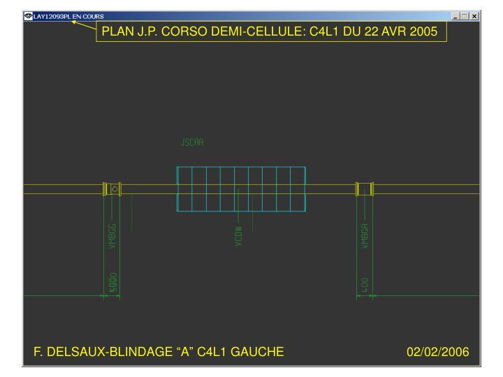 """F. DELSAUX-BLINDAGE """"A"""" C4L1 GAUCHE"""