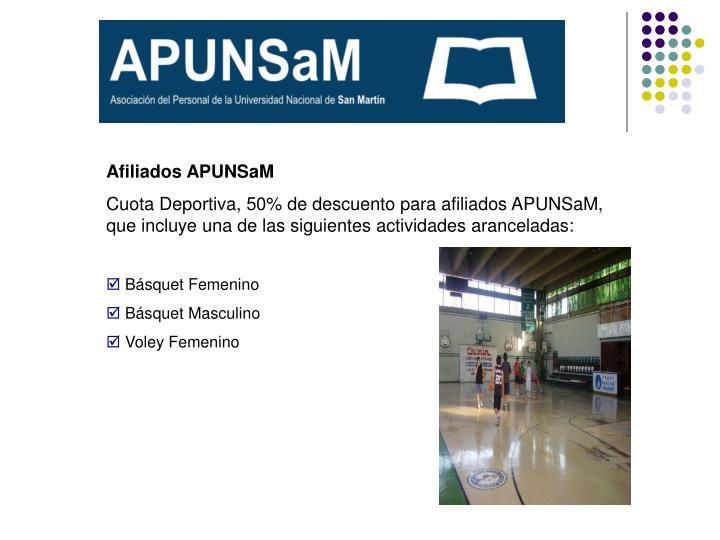 Afiliados APUNSaM