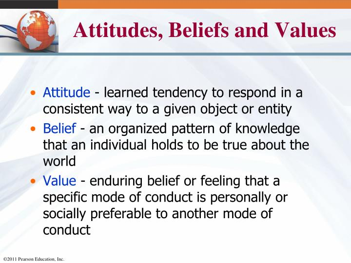 Attitudes, Beliefs and Values