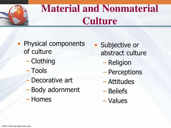 Physical components of culture