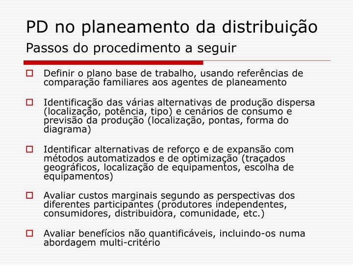 PD no planeamento da distribuição
