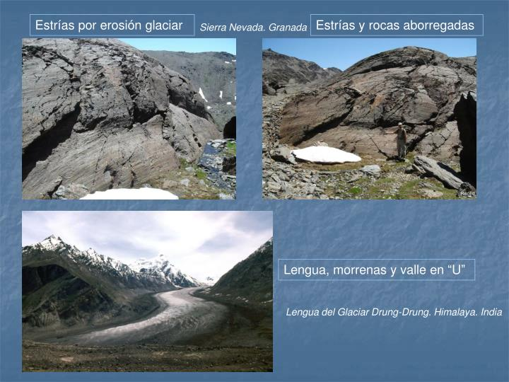 Estrías por erosión glaciar