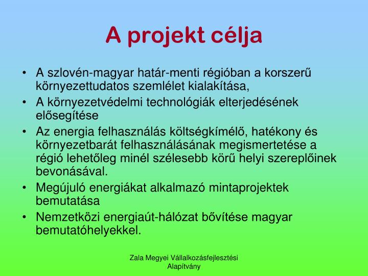 A projekt clja