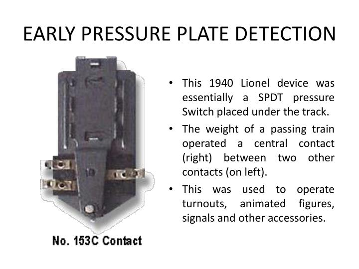 EARLY PRESSURE PLATE DETECTION