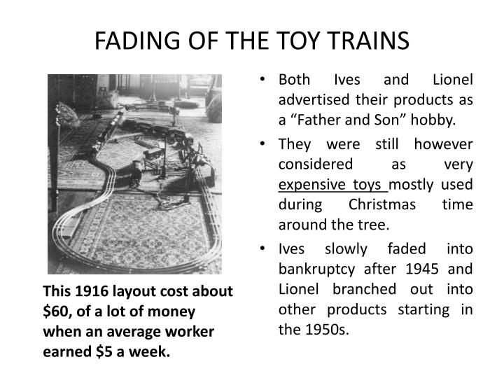 FADING OF THE TOY TRAINS