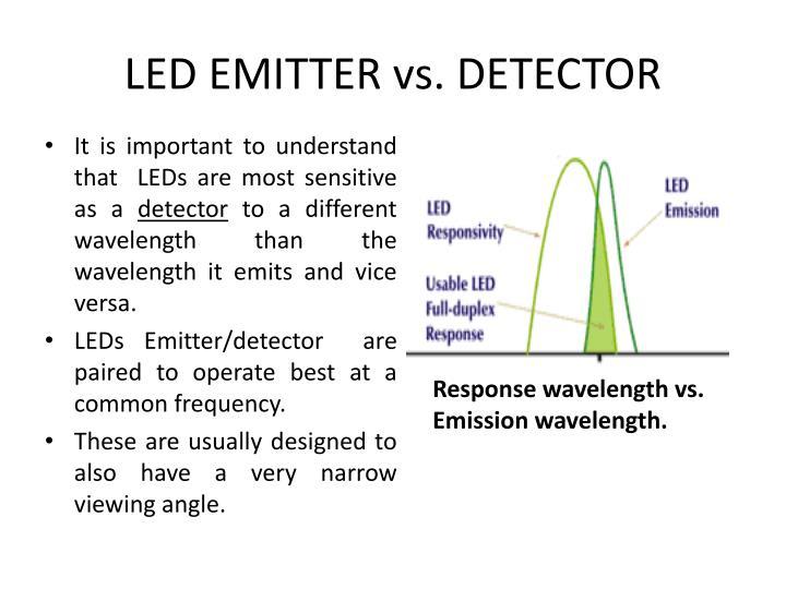 LED EMITTER vs. DETECTOR