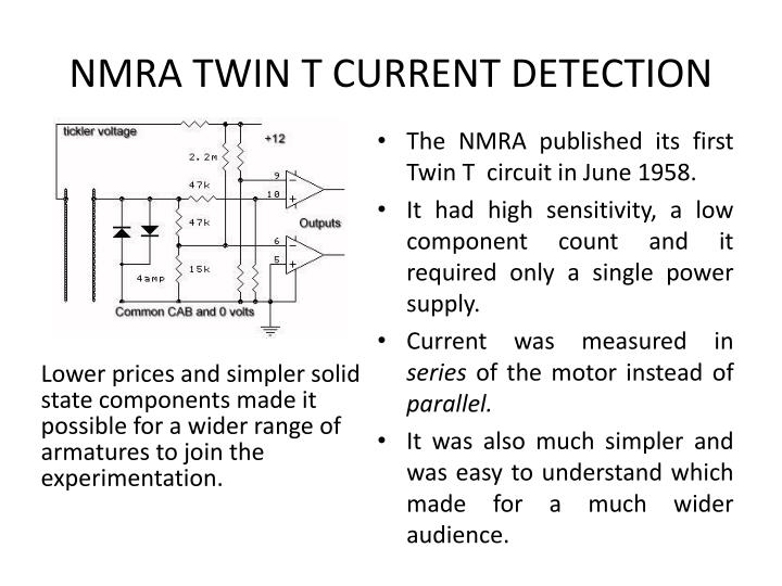 NMRA TWIN T CURRENT DETECTION