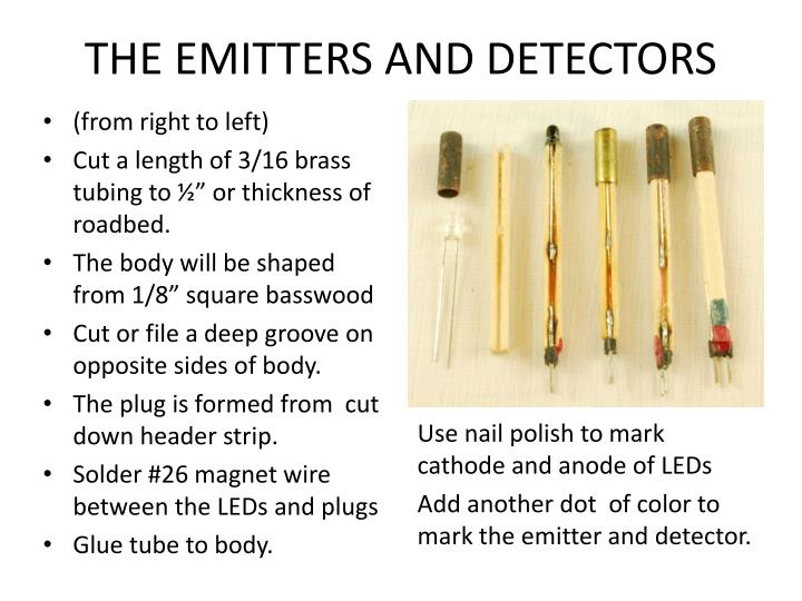 THE EMITTERS AND DETECTORS