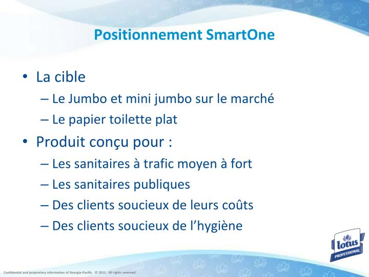 Positionnement SmartOne