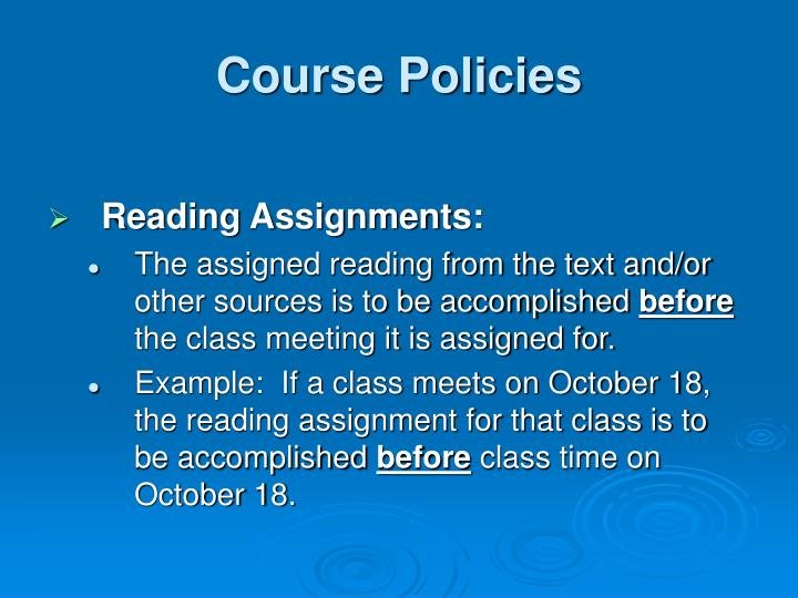 Course Policies