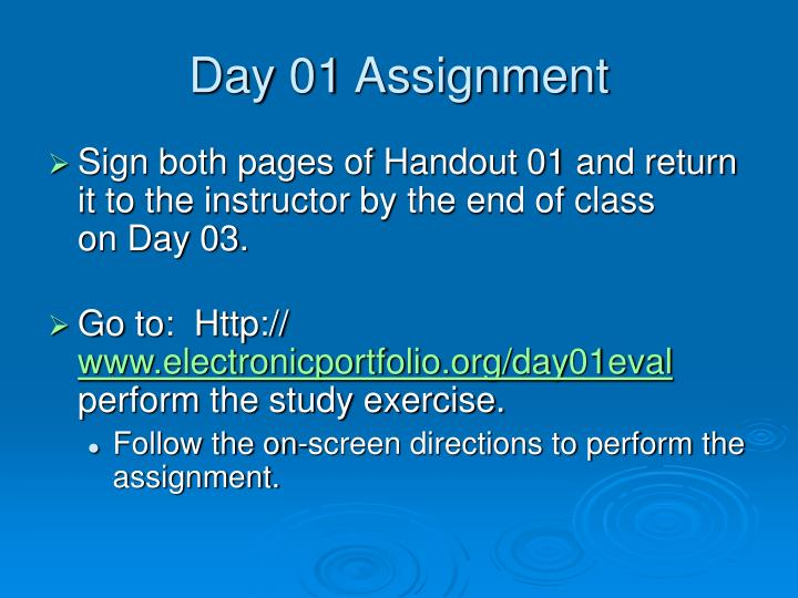Day 01 Assignment