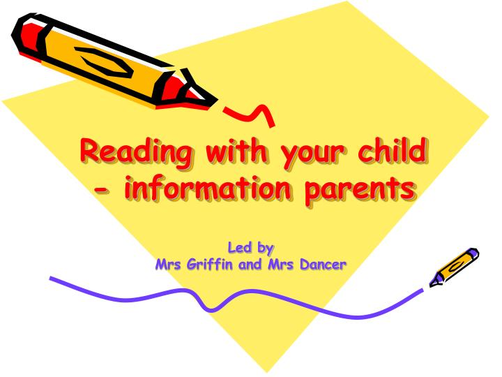 Reading with your child information parents