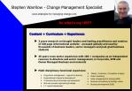 stephen warrilow change management specialist www strategies for managing change com8