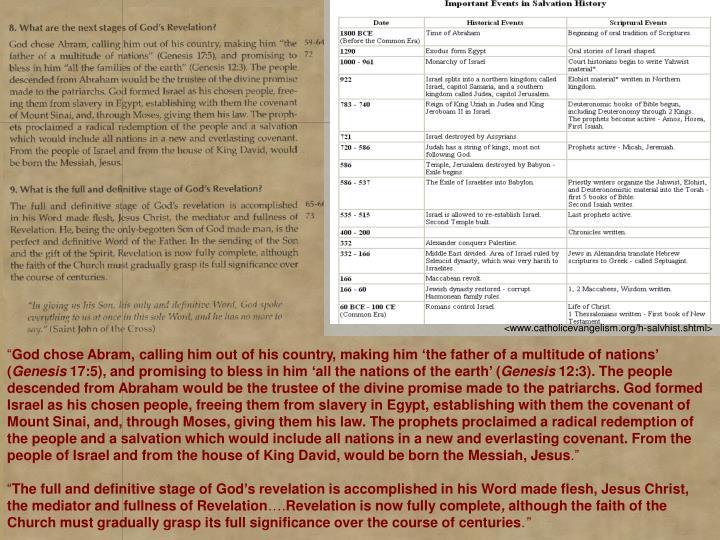 <www.catholicevangelism.org/h-salvhist.shtml>