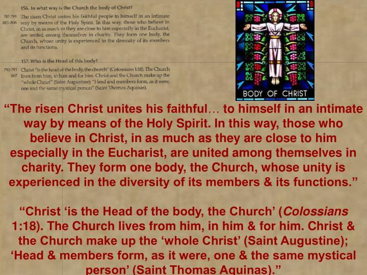 The risen Christ unites his faithful