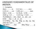 unidades fundamentales de medida