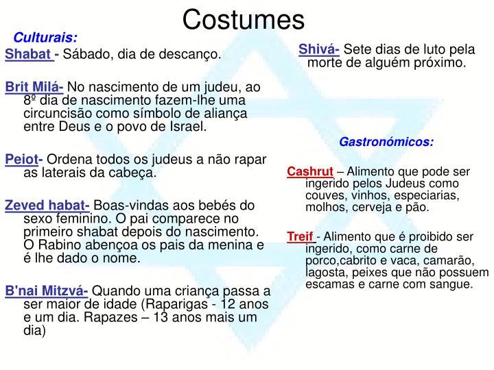 Culturais: