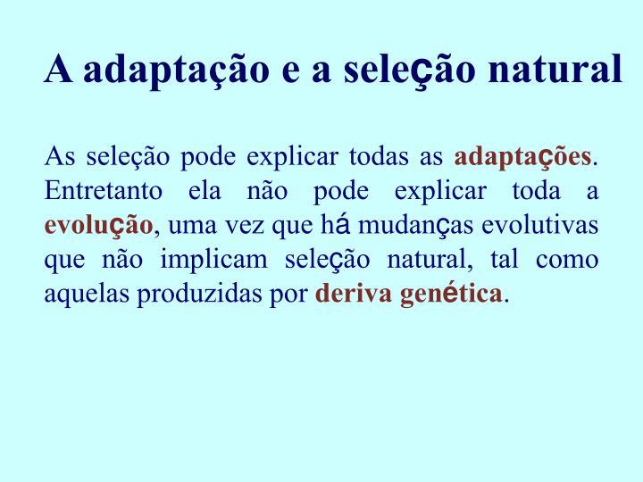 A adaptaç