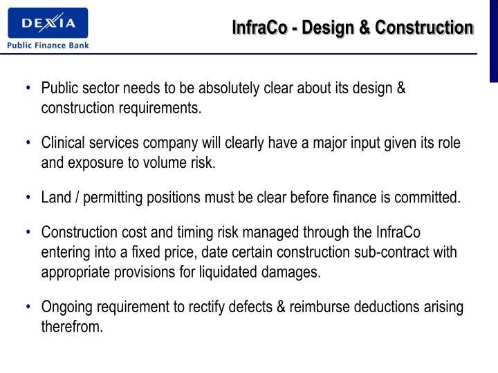InfraCo - Design & Construction
