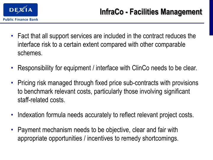 InfraCo - Facilities Management