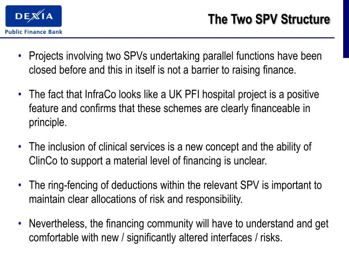 The Two SPV Structure