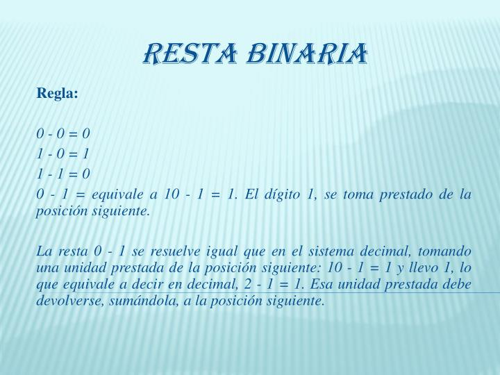 Resta Binaria