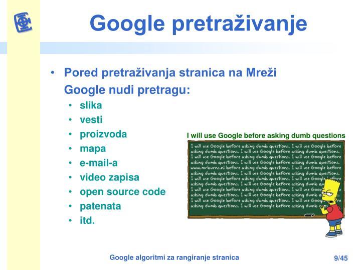 Google pretraživanje
