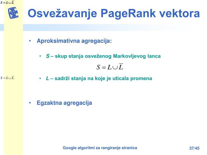 Osvežavanje PageRank vektora