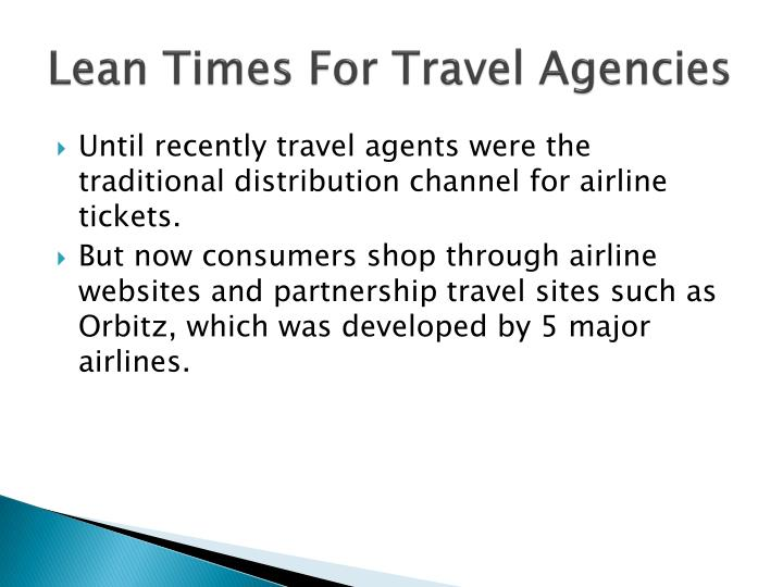 Lean Times For Travel Agencies