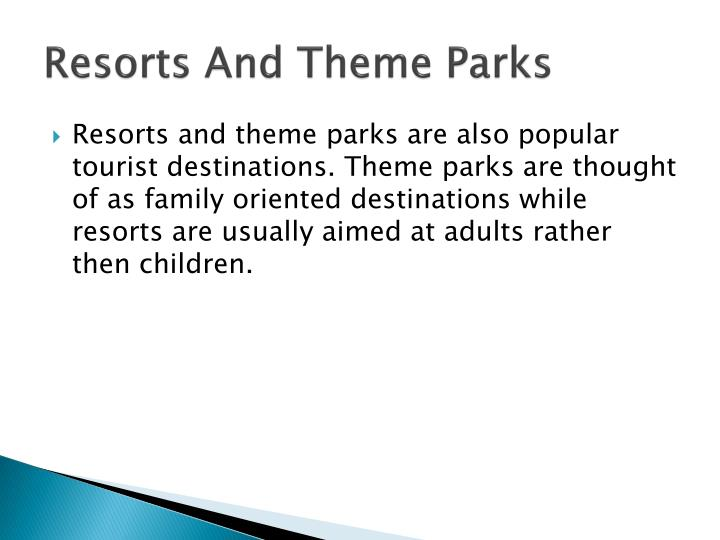 Resorts And Theme Parks