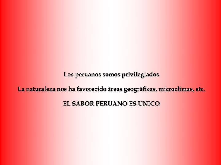 Los peruanos somos privilegiados