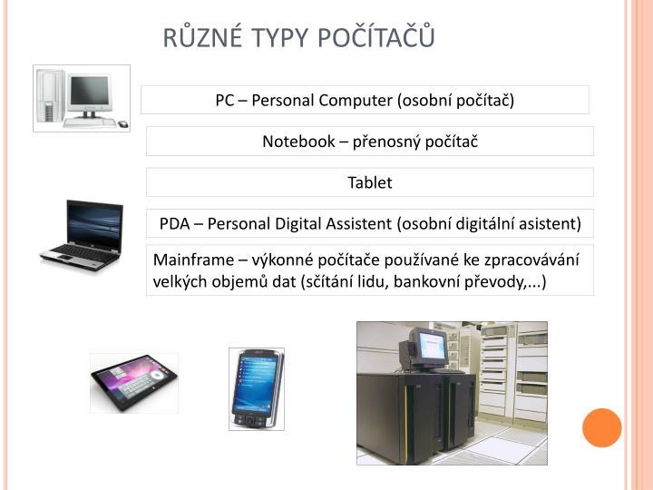 různé typy počítačů