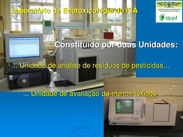 Laboratório de Ecotoxicologia do ISA