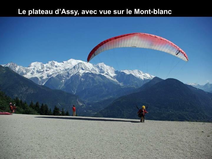 Le plateau d'Assy, avec vue sur le Mont-blanc