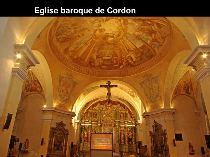 Eglise baroque de Cordon