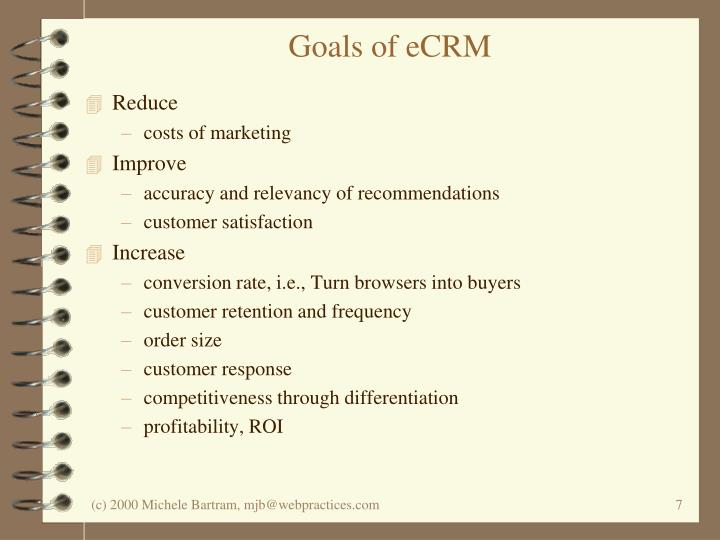 Goals of eCRM