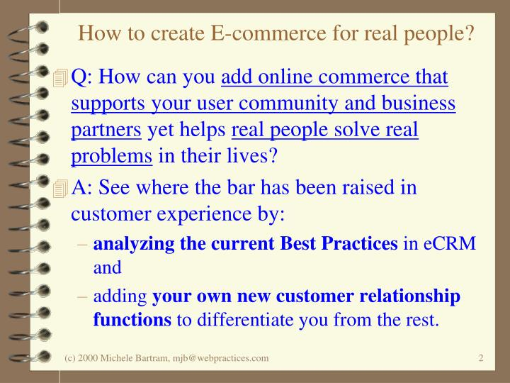How to create e commerce for real people