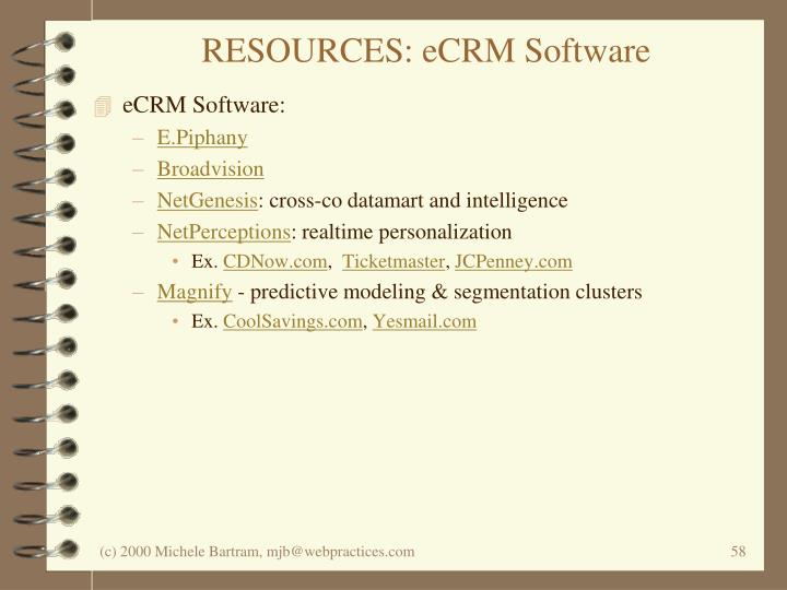 RESOURCES: eCRM Software